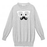 szary sweter Reserved z nadrukiem - jesień/zima 2012/2013