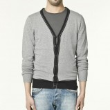 szary sweter ZARA rozpinany - moda wiosna/lato