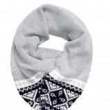 szary szalik Van Graaf we wzorki - zima 2011/2012