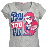 szary t-shirt Cropp z nadrukiem - wiosna/lato 2012