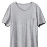 szary t-shirt H&M - lato 2012