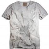 szary t-shirt Kappahl z nadrukiem - moda wiosna/lato