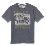 szary t-shirt Reserved z nadrukiem - wiosna/lato 2011