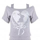 szary t-shirt Tally Weijl - wiosna/lato 2011