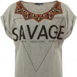 szary t-shirt Tally Weijl z nadrukiem - moda festiwalowa