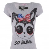 szary t-shirt - wiosna/lato 2011