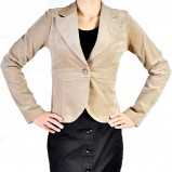 taliowany żakiet Grey Wolf w kolorze beżowym - eleganckie ubrania
