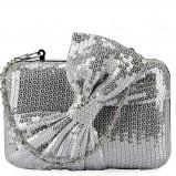 torebka Fleq.pl z cekinami w kolorze srebrnym - błyszczące torebki