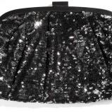 torebka Reserved z cekinami w kolorze czarnym - małe torebki na imprezę