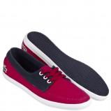 trampki La Coste w kolorze czerwono-granatowym - moda na wiosnę 2013