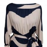 tunika - bluzeczka Pretty One w kolorze beżowo - czarnym - koszule na jesień i zimę 2012/13