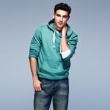 turkusowa bluza F&F z kapturem - z kolekcji wiosna-lato 2012