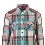 turkusowa koszula Topshop w kratkę - trendy wiosna-lato