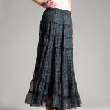 turkusowa spódnica Orsay w łączkę - jesień/zima 2011/2012