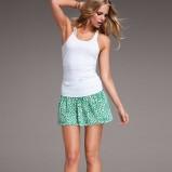 turkusowa spódnica Victorias Secret w kwiaty - lato 2012