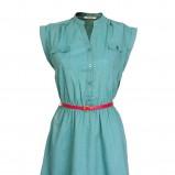 turkusowa sukienka Camaieu z paskiem - wiosna/lato 2012