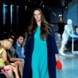 turkusowa sukienka Deni Cler - kolekcja na sezon jesień-zima 2013/2014