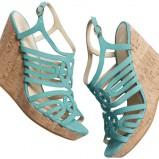 turkusowe sandały H&M - wiosna/lato 2012