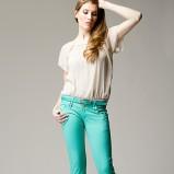 turkusowe spodnie Heppin - sezon letni