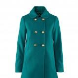 turkusowy płaszcz H&M - jesień/zima 2011/2012