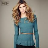 turkusowy sweter F&F - kolekcja jesienna