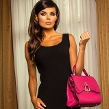 Urocza czarna sukienka Heppin  jesień-zima 2012/13