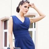 Urocza niebieska sukienka Heppin  HIT na 2012/2013