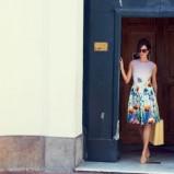 urocza sukienka F&F w kwiaty - moda na wiosnę i lato 2013