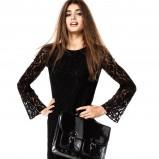 urocza z długam rękawem sukienka H&M w kolorze czarnym - kreacje na studniówkę