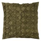 Urocza zielona poduszka wzorzysta do salonu- Black Red White
