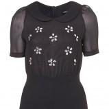 uroczy kombinezon Topshop w kolorze czarnym - moda na karnawał