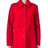 uroczy płaszcz Grey Wolf w kolorze czerwonym - kolekcja na jesień i zimę