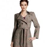 uroczy płaszcz z paskiem H&M w kratkę - jesień-zima 2012/2013