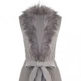 Uroczy szary sweter Tally Weijl z wytłoczonym wzorem wiązany w talii  HIT jesień- zima 2012/2013