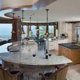 Urzekająca wyspa kuchenna marmurowa a'la stolik Hit