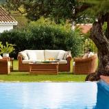 Urzekający ratanowy wypoczynek ogrodowy w kolorze ecru  - marka Patt Mebel