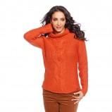 wełniany sweter C&A w kolorze pomarańczowym - moda na jesień 2013