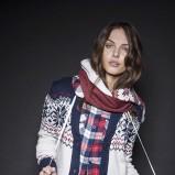 wełniany sweter Terranova w norweski wzór - moda na zimę 2013