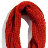wełniany szalik tunel Reserved w kolorze bordowym - modne dodatki na jesień i zimę