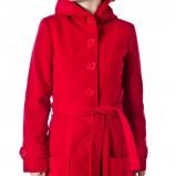 wiązany płaszcz Grey Wolf w kolorze czerwonym - moda na jesień i zimę
