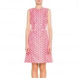 wiosenna sukienka Simple w kwiaty w kolorze różowym - wiosna 2013
