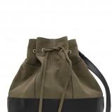 worek - torebka Mango w kolorze khaki - modne torebki na jesień i zimę