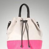 worek - torebka Stradivarius w kolorze różowo - szarym