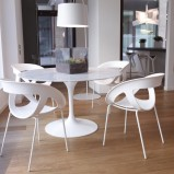 Wyjątkowe zestaw biały stół z krzesłami - trendy na 2013