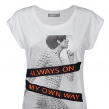 z aplikacją bluzka Troll w kolorze białym - jesień 2012
