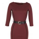 z długam rękawem sukienka Top Secret w kolorze bordowym