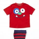 zabawny komplet dziecięcy F&F w kolorze czerwonym  - ubranka dla chłopców
