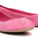 zamszowe baleriny Reserved w kolorze różowym - kolekcja na wiosnę 2013
