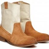 zamszowe botki Reserved w kolorze brązowym - obuwie na wiosnę 2013