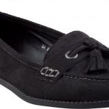 zamszowe mokasyny CCC w kolorze czarnym - obuwie na wiosnę 2013
